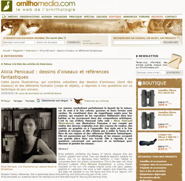 Interview Ornithomedia.com