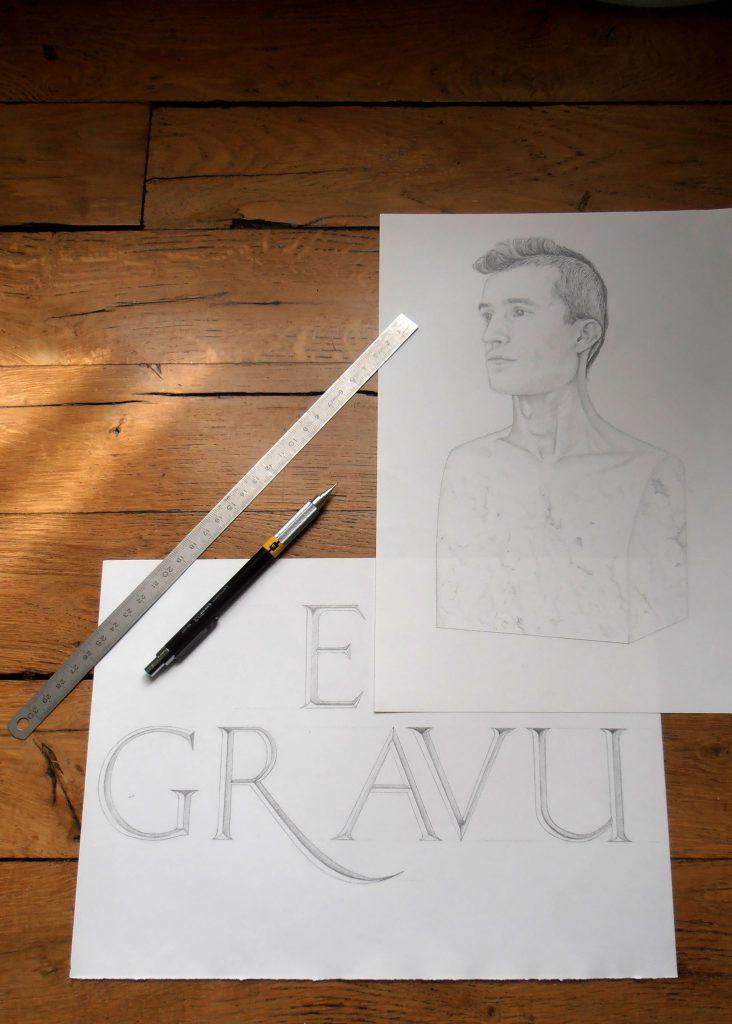 portrait dessiné sur papier